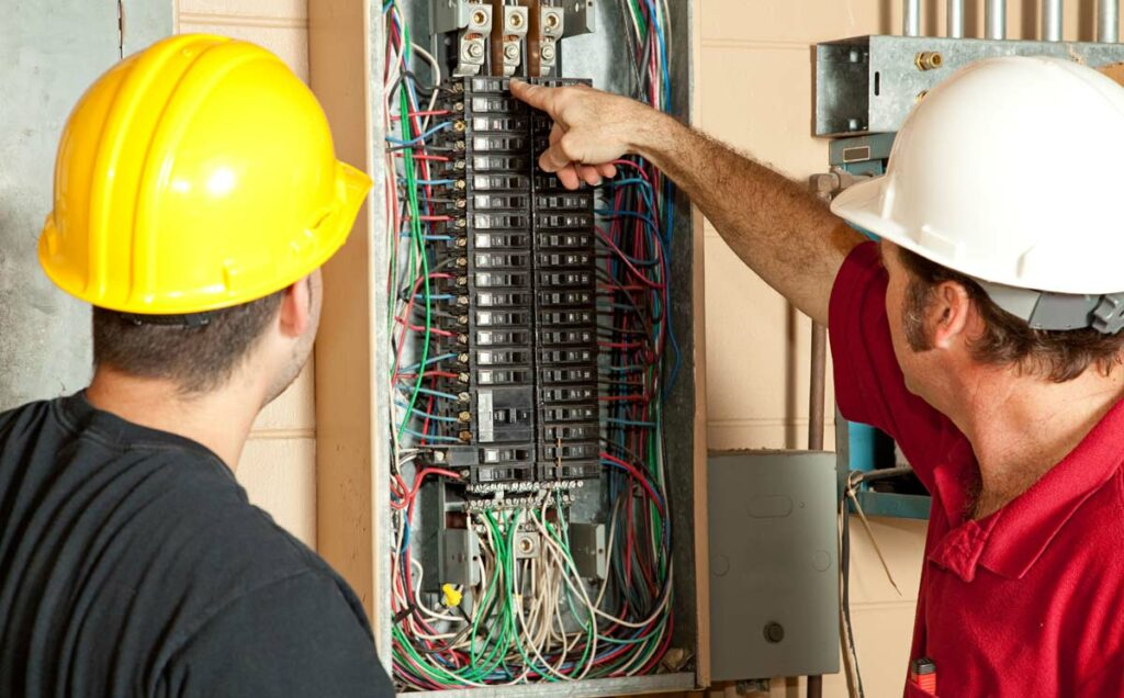 Electrical safety inspection in Weston home