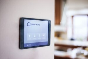 Tablet on Wall for Smart Home Installation Services in Fort Lauderdale