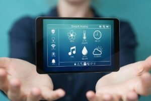 Hands with Floating Tablet for Smart Home Installation Services in Pembroke Pines